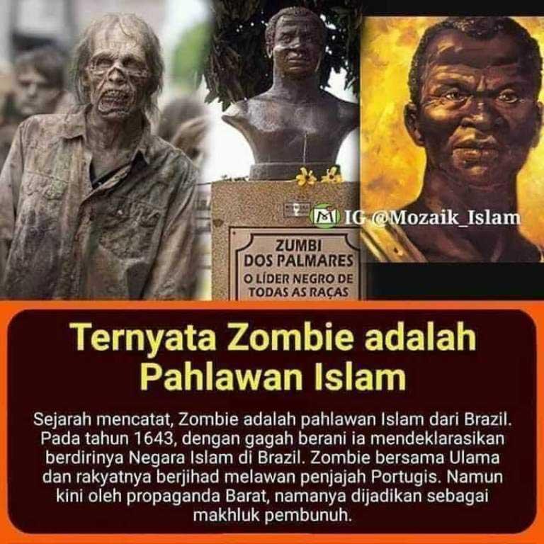 Rekayasa Perang Zombie, Nama Aslinya Zumbi Seorang Pahlawan Islam dari Brazil