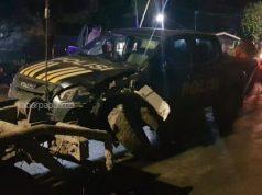 Diduga Mabuk Berat dan Ugal-Ugalan, Dua Polisi Ini Tabrak Tiang Listrik Pakai Mobil Patroli